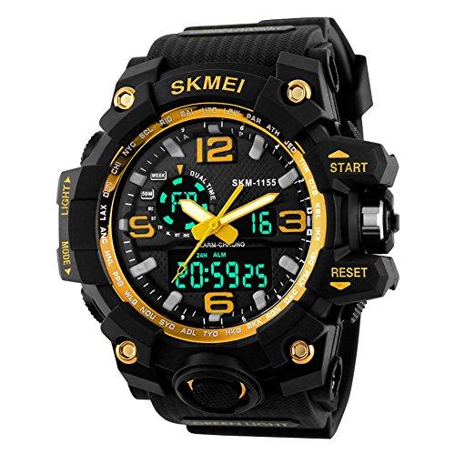 SKMEI 30M Waterproof Blue Light LED Watch (Red) - 7