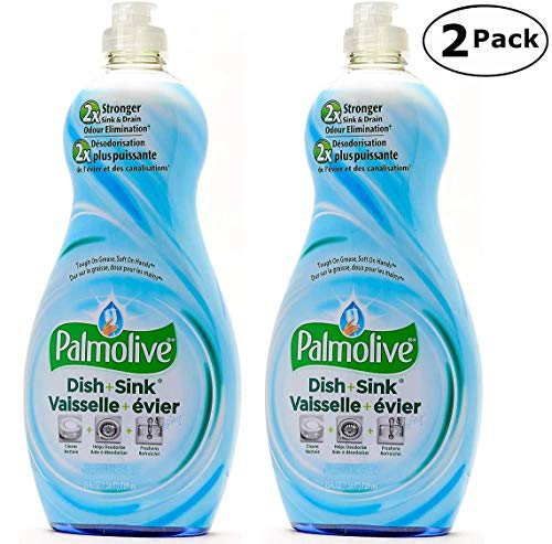 Palmolive Soft on Hands & Soft on Nails Utra Dish + Sink Dishwashing Liquid Soap Detergent, 25 Oz Twin Pack, (25 Oz x 2, Total 50 Oz)
