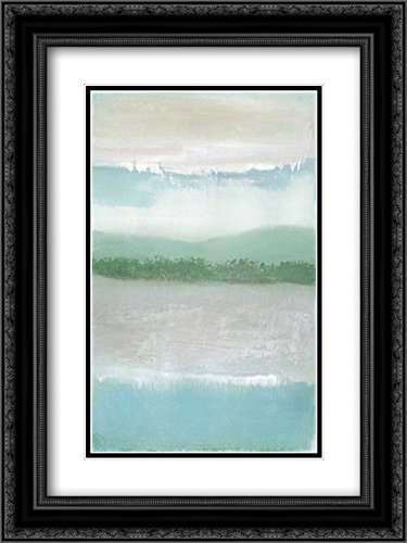 Framed Equinox (Equinox 2X Matted 18x24 Black Ornate Framed Art Print by Gold, Caroline)