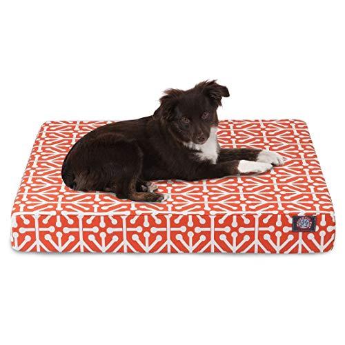 Denier Orthopedic Foam - Majestic Pet Products Aruba Orthopedic Memory Foam Rectangle Dog Bed Orange Small