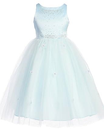 312d8d32b20 Amazon.com  Kid Collection Girls Satin Tulle Ballerina Dress  Clothing