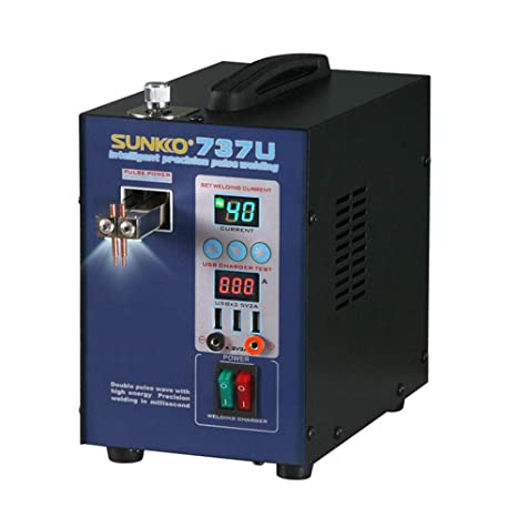 KKmoon Mini Home Precisión Pulso Batería Prueba de Carga USB Portátil Máquina de Soldadura por puntos