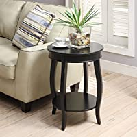 Chin Shu Yvonne Round Table in Antique Black
