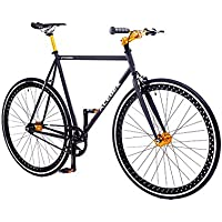 ACEGER Single-Speed Fixed Gear Hollowed Rim Urban Commuter Bike (Black)