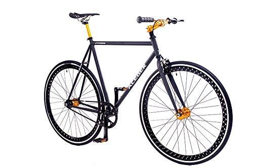 ACEGER Single-Speed Fixed Gear Hollowed Rim Urban Commuter Bike