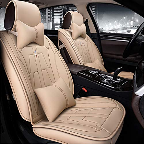 IMBM Complete Set with 5 Leather Seats Universal Compatible Airbag for Year-round Use Comfortable Automotive Front and Back Seat Protectors sweat absorption (Color : D, Size : Deluxe Edition):
