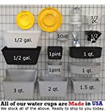 12 pcs Gray 1 Pint Hanging Water Feed Cage Cups
