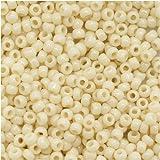 Toho Round Seed Beads 11/0 #51 'Opaque Lt Beige' 8 Gram Tube