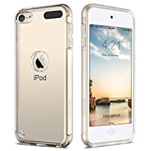 iPod 5 Case, iPod 6 Cases, BENTOBEN Ultra Slim Clear Full Protection Design Hard PC Back Soft Edge TPU Anti-Scratch Heavy Duty Shock Proof Protective Case for iPod Touch 5 and iPod Touch 6 - Clear