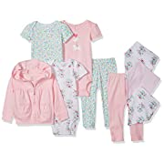Carter's Baby Girls' 9-Piece Basic Gift Set, Pink Floral, 9 Months