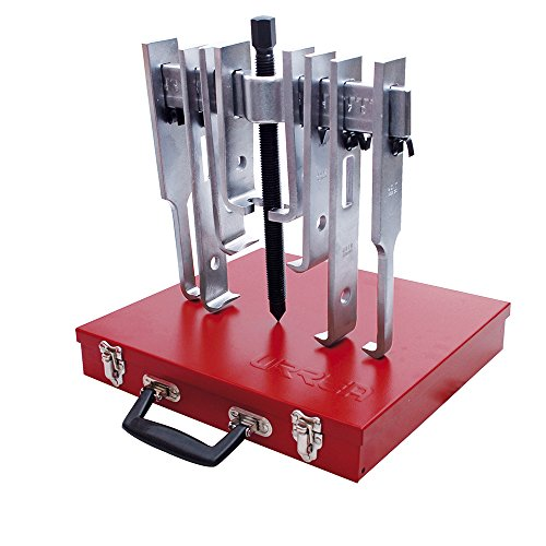 URREA 4212SJB Straight Jaw Puller 6 Ton 2 Way 6 Jaw with Metal Box, 14-Piece (Straight Puller)