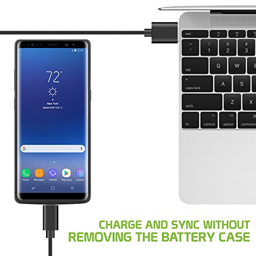 Samsung Galaxy Note 8 Battery scenario 6500mAh Rechargeable External Backup electricity scenario for Galaxy Note 8 Black by Cellet Battery Charger Cases