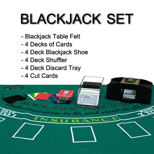 Brybelly 4 Deck Blackjack Set - All-in-one Blackjack Kit