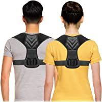 Posture Corrector for Men, Posture Corrector for Women Adjustable Upper Back Brace, Perfect Shoulder Clavicle Support Comfortable & Breathable, Pain Relief From Neck, Back & Shoulder Universal Large