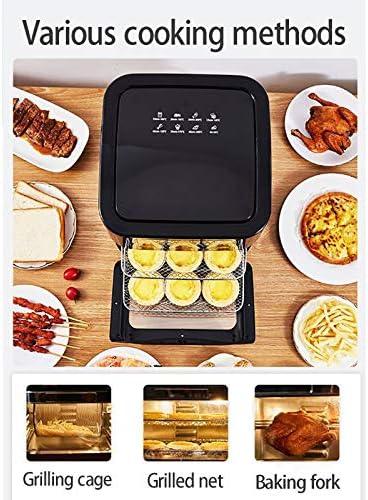 OHHCO Air Fryer, 12 litres 1500W Faible teneur Gras avec préréglage programmes sans Huile Friture Cuisiner LED Tactile température l'écran minuterie contrôle, Accessoires Barbecue