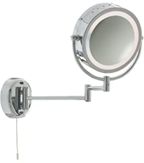 Oxford steet high quality led lighted magnifying mirrors chrome illuminated bathroom wall light mirror magnifying double sided wall mounted vanity magnifying mirror swivel mozeypictures Images