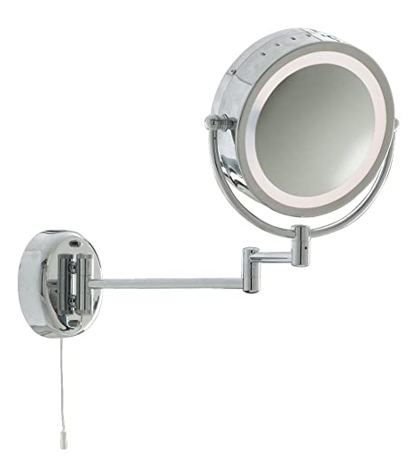Illuminated Bathroom Wall Light Mirror Magnifying Double Sided Wall