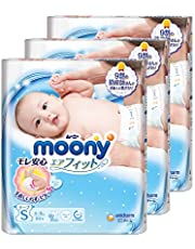 Moony Airfit Tape Diaper, S, 84 Count, (Pack of 3)