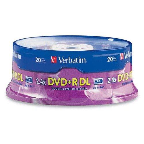 Verbatim Americas Llc: 20pk Dvd+r Dl 8.5gb 2.4x