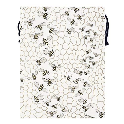 - Mintslove Portable Storage Bag Cool Bees Funny Art 3D Print Polyester Drawstring Backpack Gym Drawstring Bags