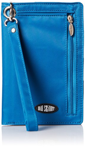 Big Skinny Women's Plus Size myPhone Bi-Fold Slim Wallet, Holds Up to 20 Cards, Ocean Blue ()