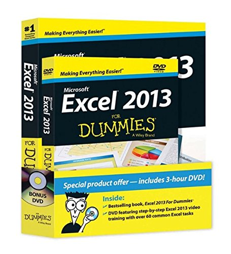 Price comparison product image Excel 2013 For Dummies, Book + DVD Bundle