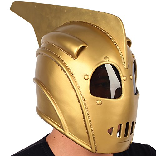 Costume Rocketeer Halloween (XCOSER Rocketeer Helmet Mask Props for Adult Halloween Cosplay)