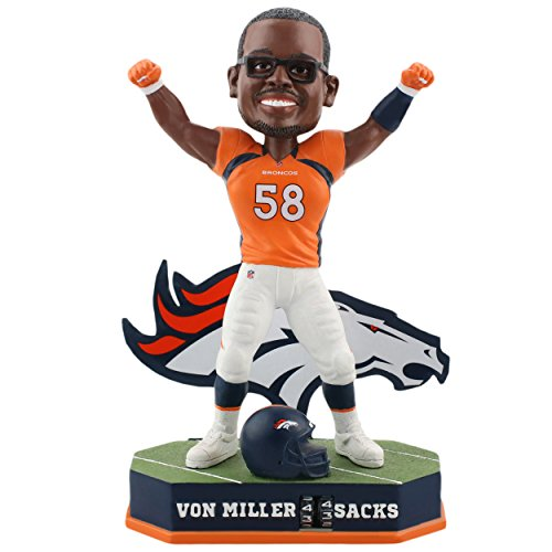 Forever Collectibles Von Miller Denver Broncos Fantasy Football Sacks Tracker Bobblehead NFL by Forever Collectibles