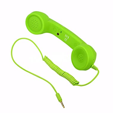 Awakingdemi Retro Radiation Proof Phone Handset 3.5 MM Socket (Green)