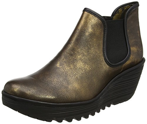 Mujer FLY para Botines London Bronze Black Marrón 025 Yat nqfIpwf