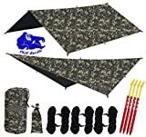 Chill Gorilla 10x10 Hammock Rain Fly Camping Tarp. Ripstop Nylon. 170'' Centerline. Stakes, Ropes & Tensioners Included. Camping Gear & Accessories. Perfect Hammock Tent. CAMO