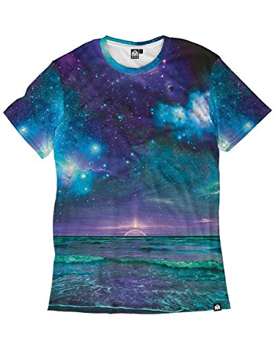 INTO THE AM Galaxy Print Space Mens All Over Print Casual Tee Shirts Collection - Made to Order T-Shirts