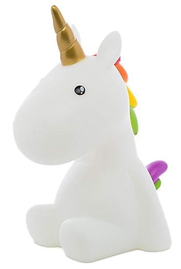 Amazon.com: Unicorn Luz nocturna multicolor LED temporizador ...