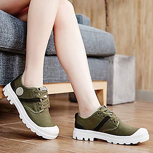 Semelles Green Femme Bout Automne TTSHOES Chaussures Plat Marche US9 EU40 Confort Chaussures Polyuréthane Légères UK7 Rond D'athlétisme Printemps Talon Lacet CN41 YwwdaOq