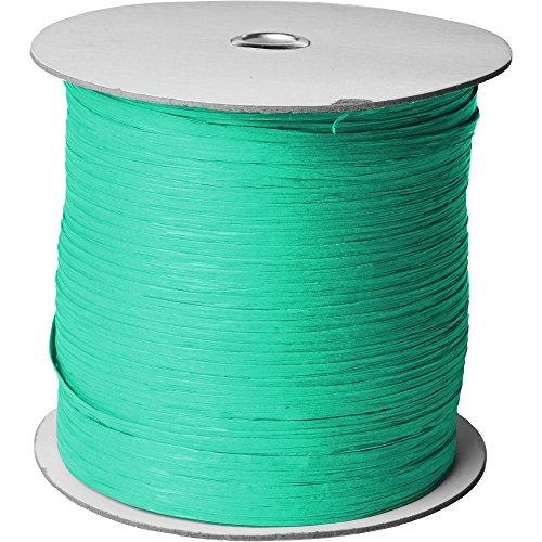 Jillson & Roberts Paper Raffia Ribbon, 1/4'' Wide x 1000 Yards, Turquoise by Jillson Roberts