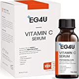 Eg4u Vitamin C Serum - Natural Korean Skin Care - For Wrinkles, Lightening, Acne, Sun Damage, Face and Eyes - Hyaluronic Acid, Ascorbic Acid, Peptide Complex - Anti Aging PRO Product 1OZ