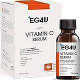 skin lightening with vitamin c serum Eg4u Vitamin C Serum - Natural Korean Skin Care - For Wrinkles, Lightening, Acne, Sun Damage, Face and Eyes - Hyaluronic Acid, Ascorbic Acid, Peptide Complex - Anti Aging PRO Product 1OZ