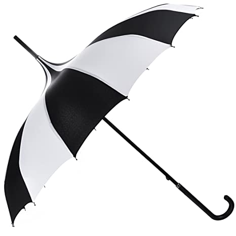 Amazon com outgeek umbrella retro pagoda umbrella parasol umbrella sun umbrella uv protection umbrella retro with hook handle white black garden