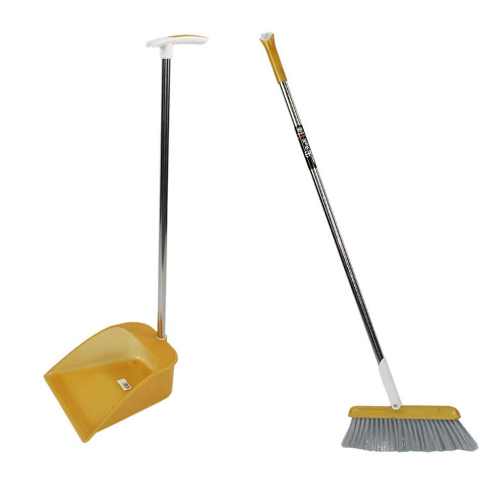 Czlsd Rubber Broom And Trowel And Brush Set Brush Outdoor And Terrace Broom Cleaning Tool (Color : Yellow) by Czlsd