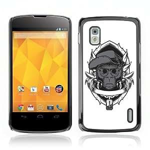 YOYOSHOP [Cool Monkey] LG Google Nexus 4 Case