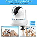 TENVIS HD IP Camera- Wireless Surveillance Camera with Night Vision/ Two-way Audio/ PTZ, 2.4Ghz Wifi Indoor Home Security Dome Camera for Pet Baby, Remote Monitor with MicroSD Slot, Android,iOS App