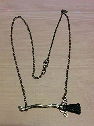 Amazon.com: Harry Potter Fire Bolt Broom Necklace: Handmade