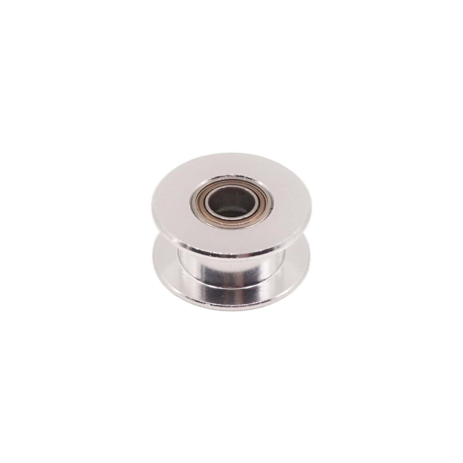 WINSINN 2GT GT2 Aluminum Timing Belt Idler Pulley Toothless 20 Teeth Tooth 5mm Bore for 3D Printer 6mm Width Timing Belt Toothless