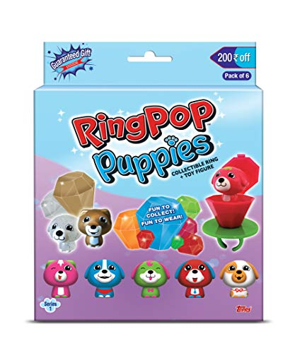 Topps India Ring Pop Puppies Series 1 (Pack of 6)
