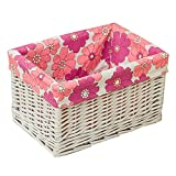 Storage Basket Laundry Basket Wicker Clothes Finishing Box Cotton Plant Fiber Breathable, Removable And Easy To Clean