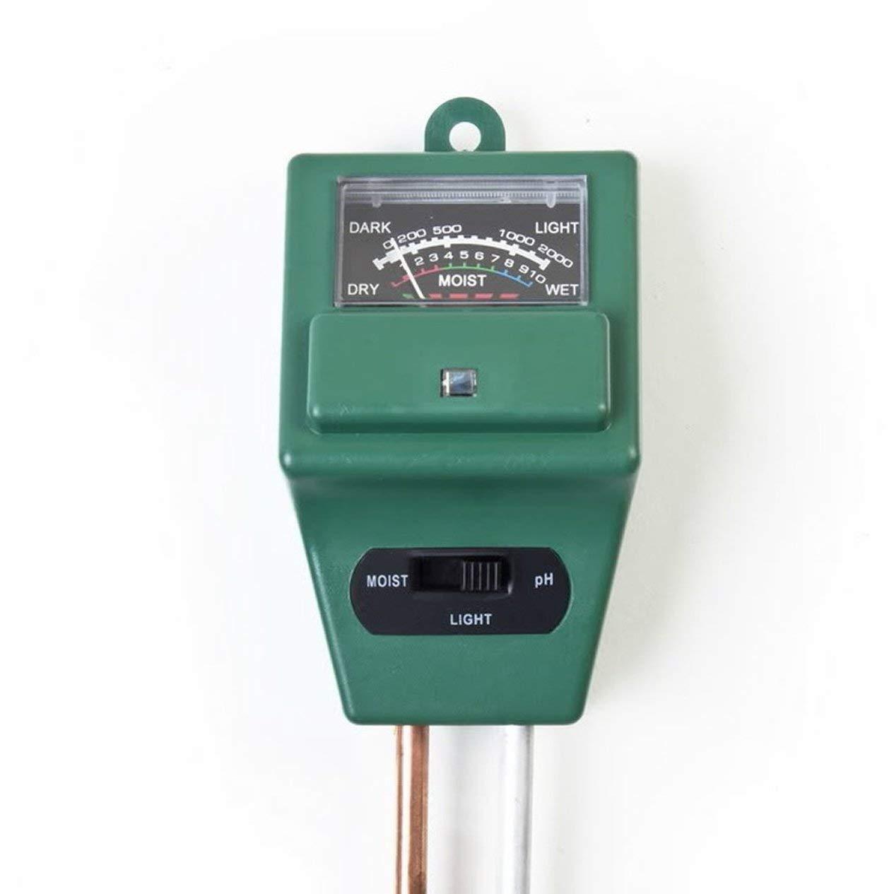 EdBerk74 3 in Boden Wasser Feuchtigkeit 1 PH Tester Boden Detektor Wasser Feuchtigkeit Licht Test Meter Sensor f/ür Gartenpflanze Blume