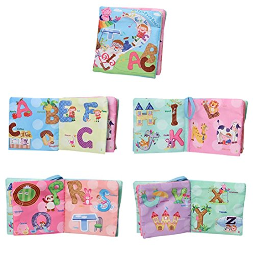 Soft Cloth Baby Book,Handmade Educational Toys for Baby, Interactive Baby Gifts Boy Girl, Gift Box & Book,GBell (Series Soft Mallets)