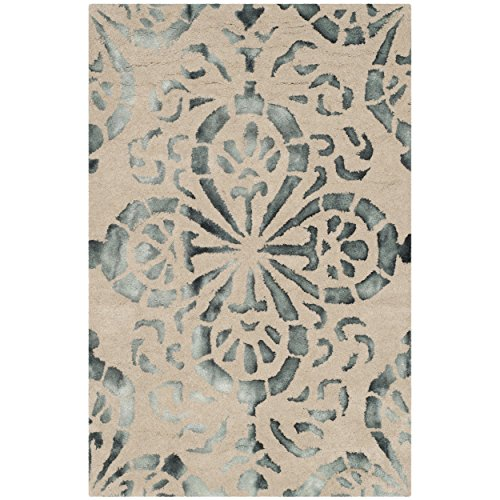 Safavieh Dip Dye Collection DDY719M Handmade Geometric Medallion Watercolor Camel and Grey Wool Area Rug (2' x 3')