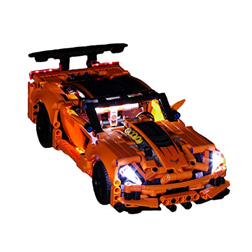 (RAVPump LED Lighting Kit for Technic Chevrolet Corvette ZR1 Blocks Model - LED Light Set Compatible with Lego 42093 ( Lego Set not Included ))