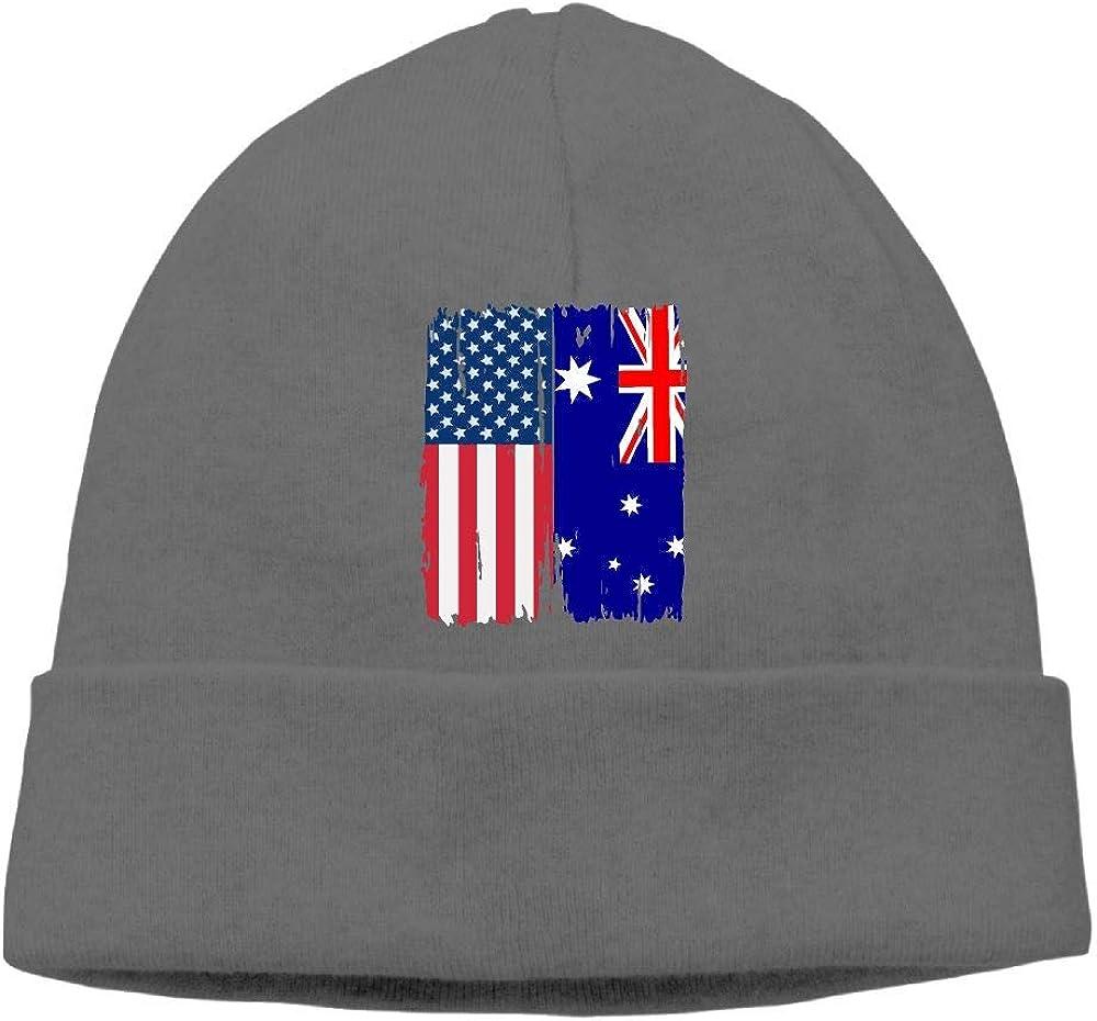 GDSG5/&4 American Australian Flag Men /& Women Thick Surf Beanie Hat